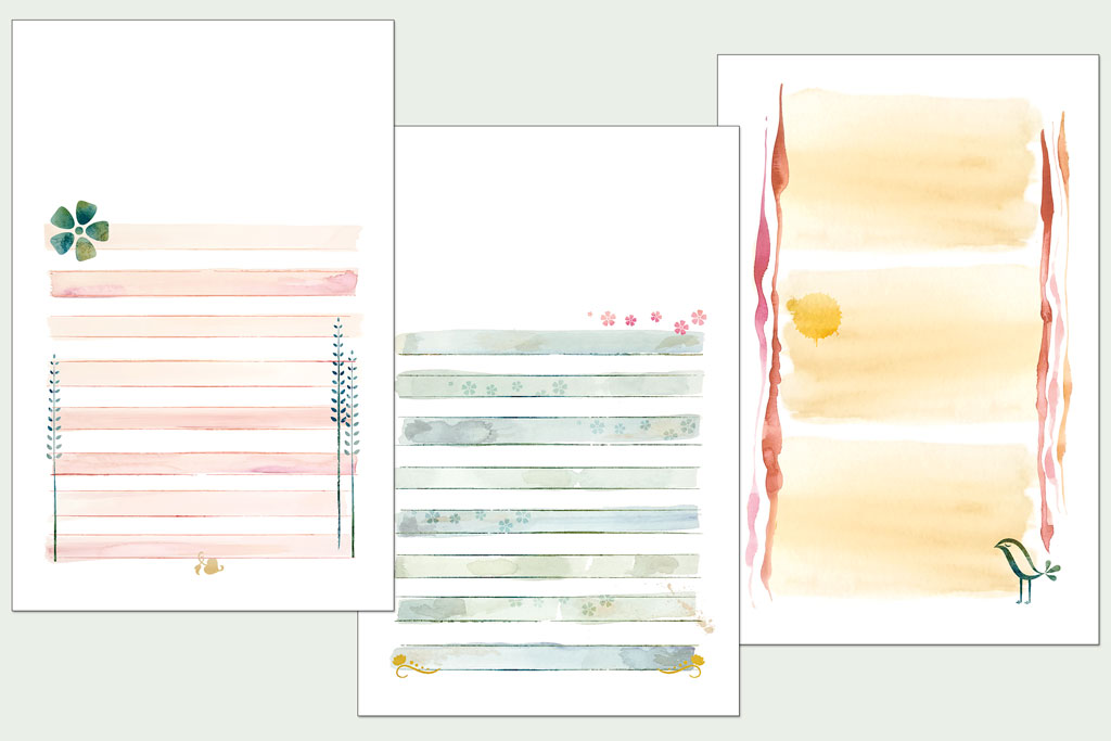 Journal pages for girls' devotional