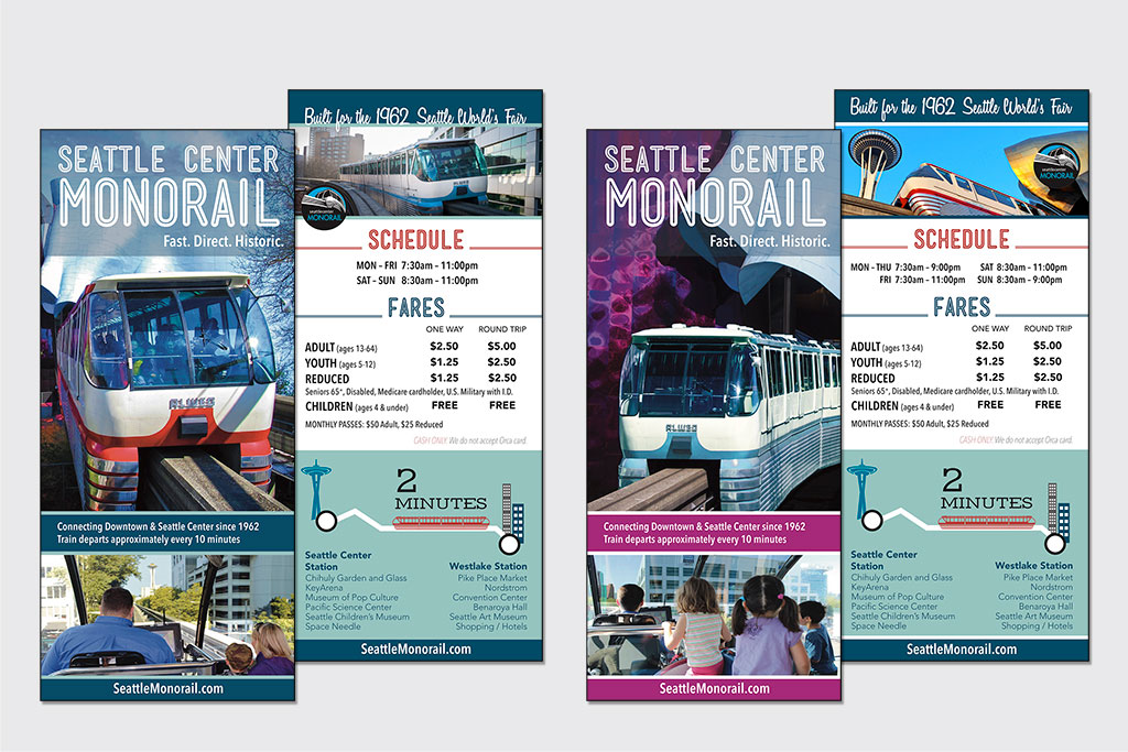 Rack Cards – Seattle Monorail