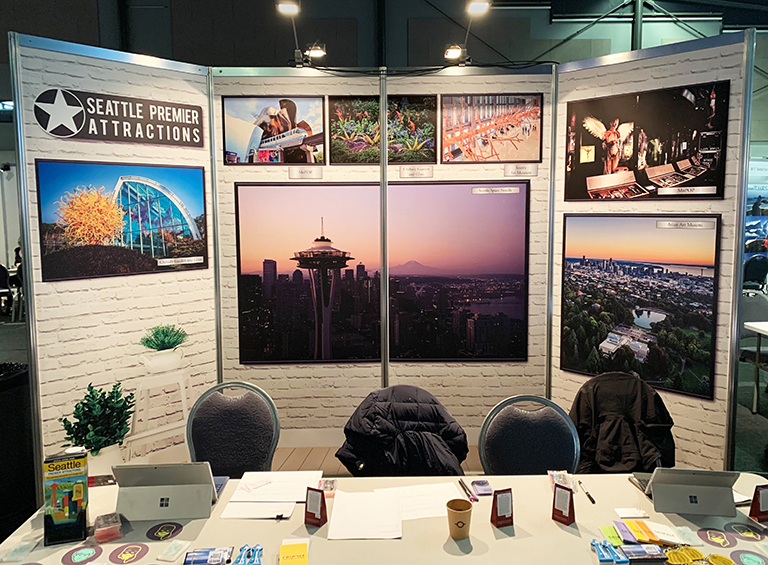 Conference Display for Seattle Tourism